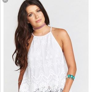 Show me your Mumu Selena Fields of Lace Top S/M